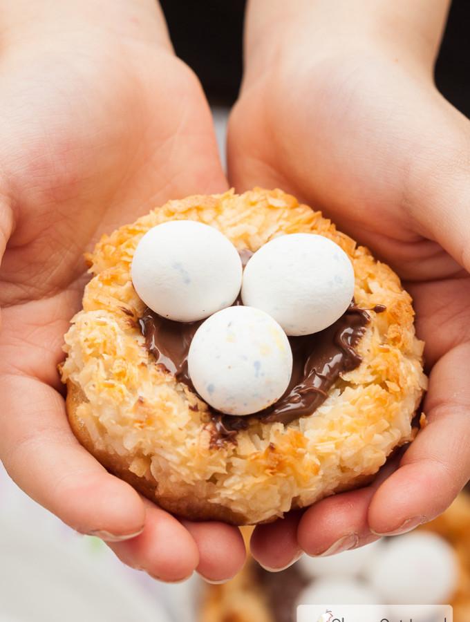 coconut macaroon nutella nest cookies 5