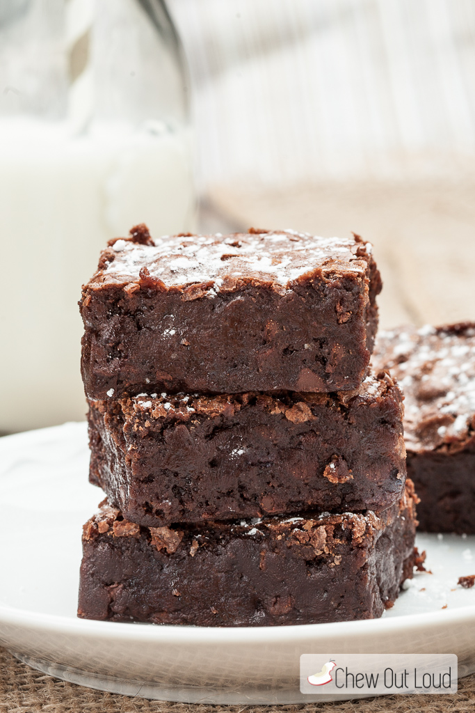 triple chewy fudge brownies