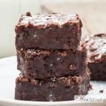 triple chewy fudgy brownies 2