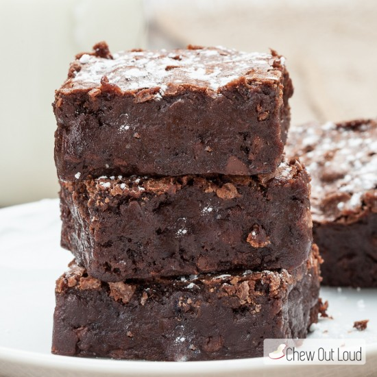 triple chewy fudgy brownies 2