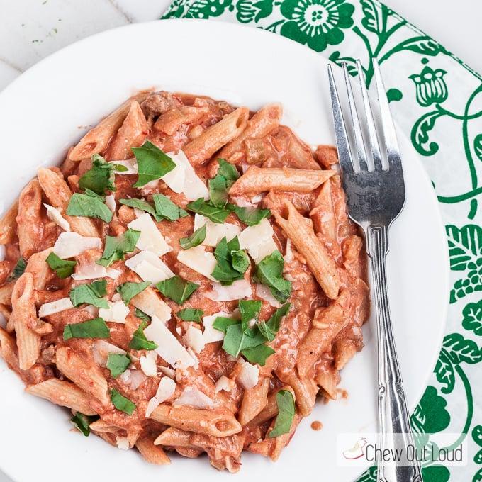 Creamy Bruschetta Pasta 8
