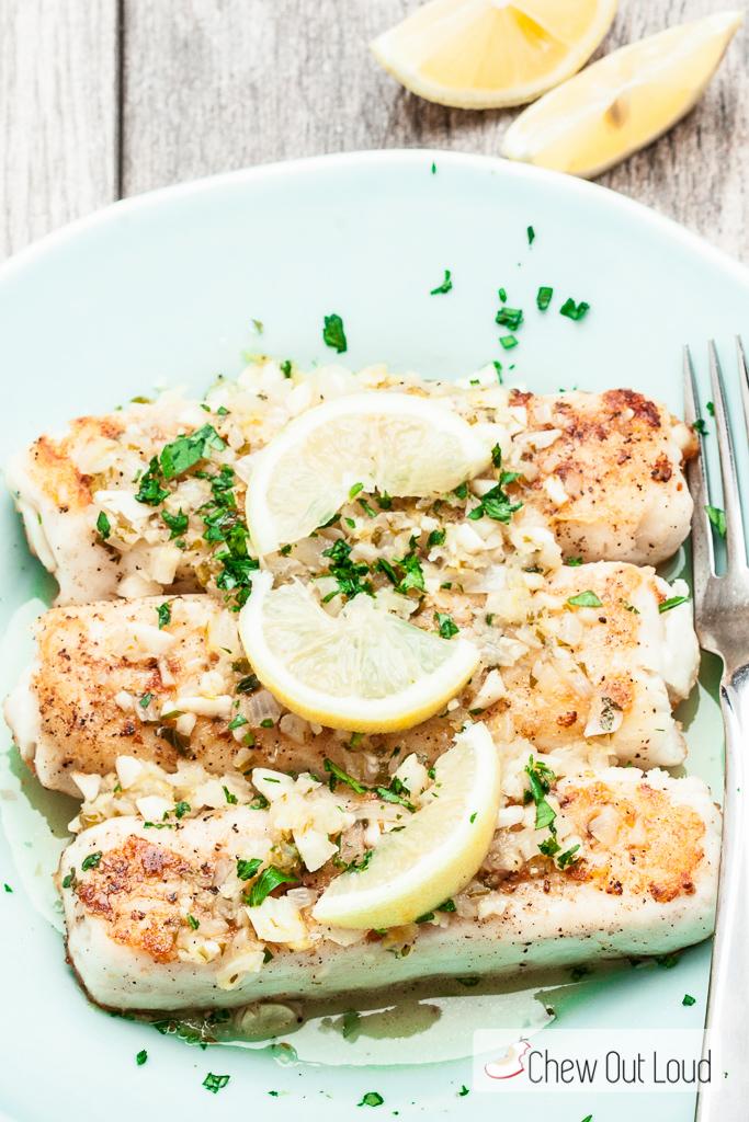 Fish Lemon Butter Sauce, white fish recipe, lemon butter fish