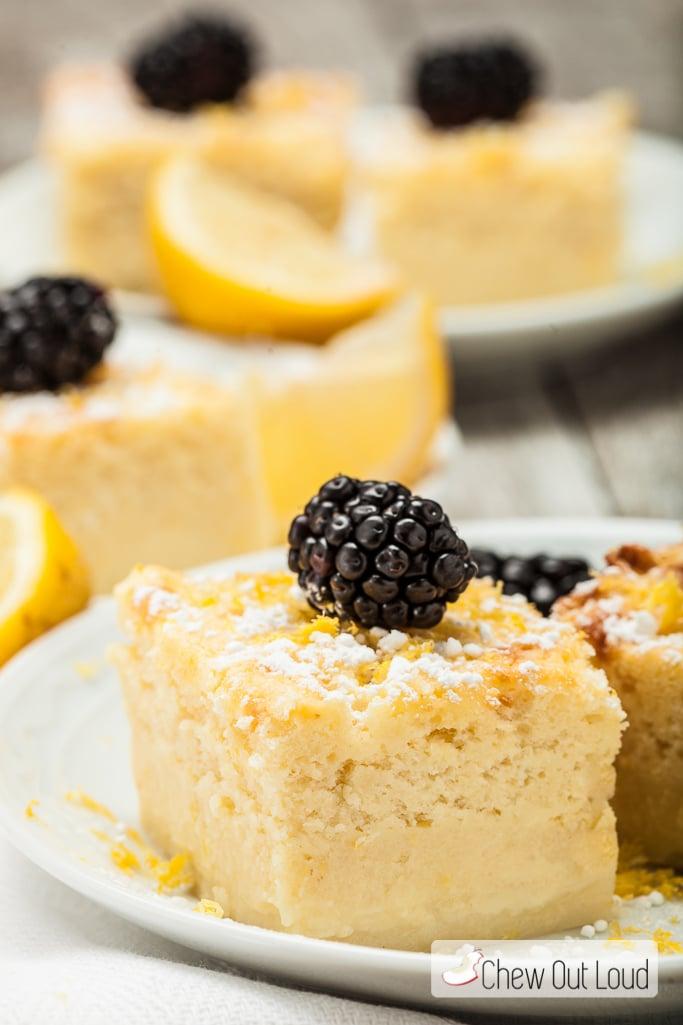 Lemon Magic Custard Cake 4
