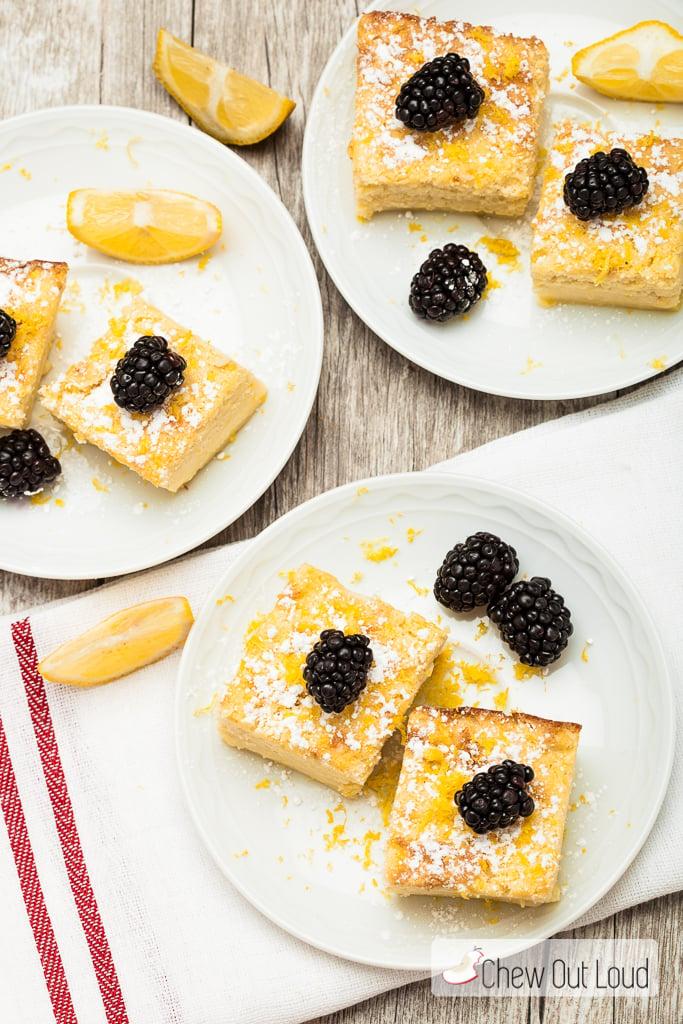 Lemon Magic Custard Cake