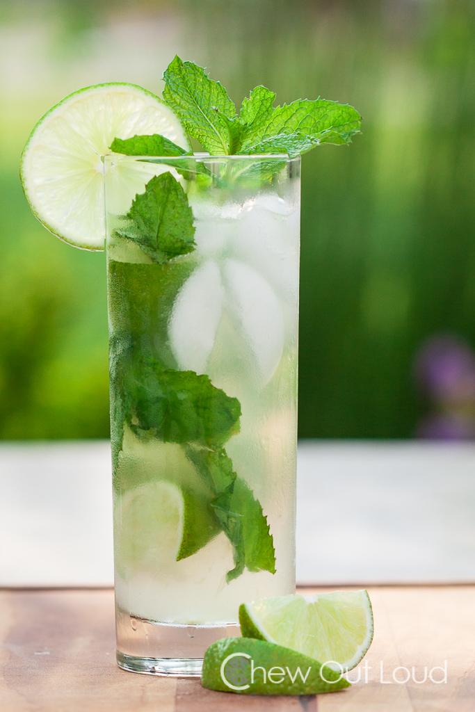Mojitos in tall glass