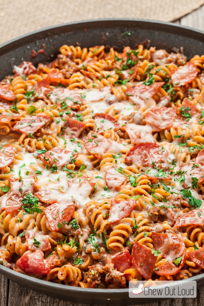One Pot Pizza Pasta 4