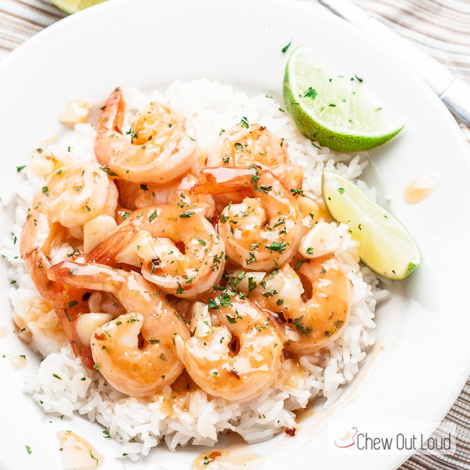 Honey Lime Shrimp with SrirachaChew Out Loud