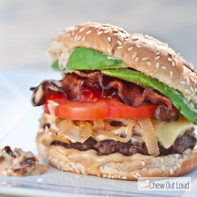 BLT Burger Garlic Mayo 2