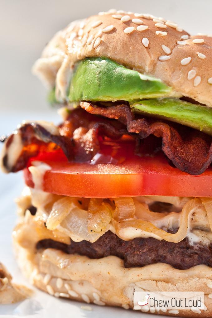 BLT Burger Garlic Mayo