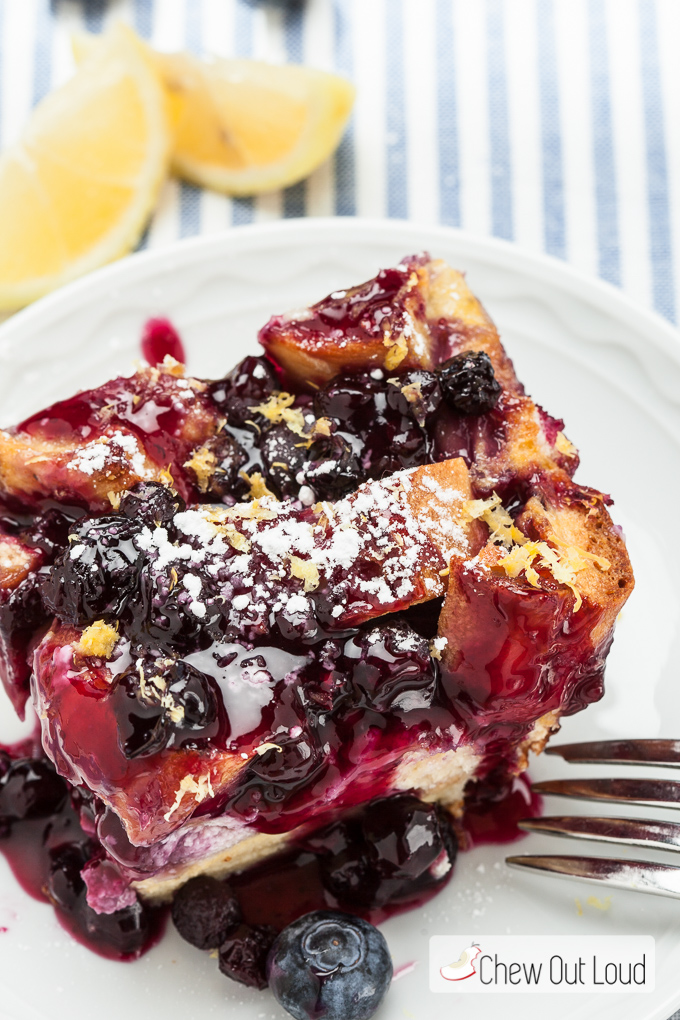 blueberry lemon french toast bake 5
