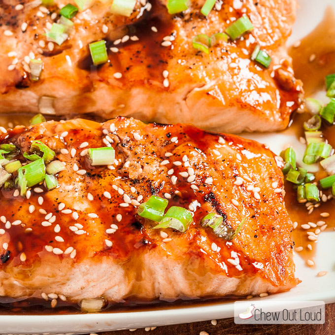 Grilled Teriyaki Salmon Chew Out Loud