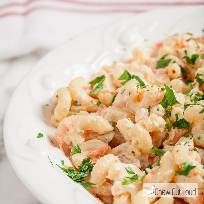 Hawaiian Macaroni Salad L L Bbq Copycat Chew Out Loud
