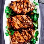 grilled pork chops, honey mustard pork, pork chops recipe