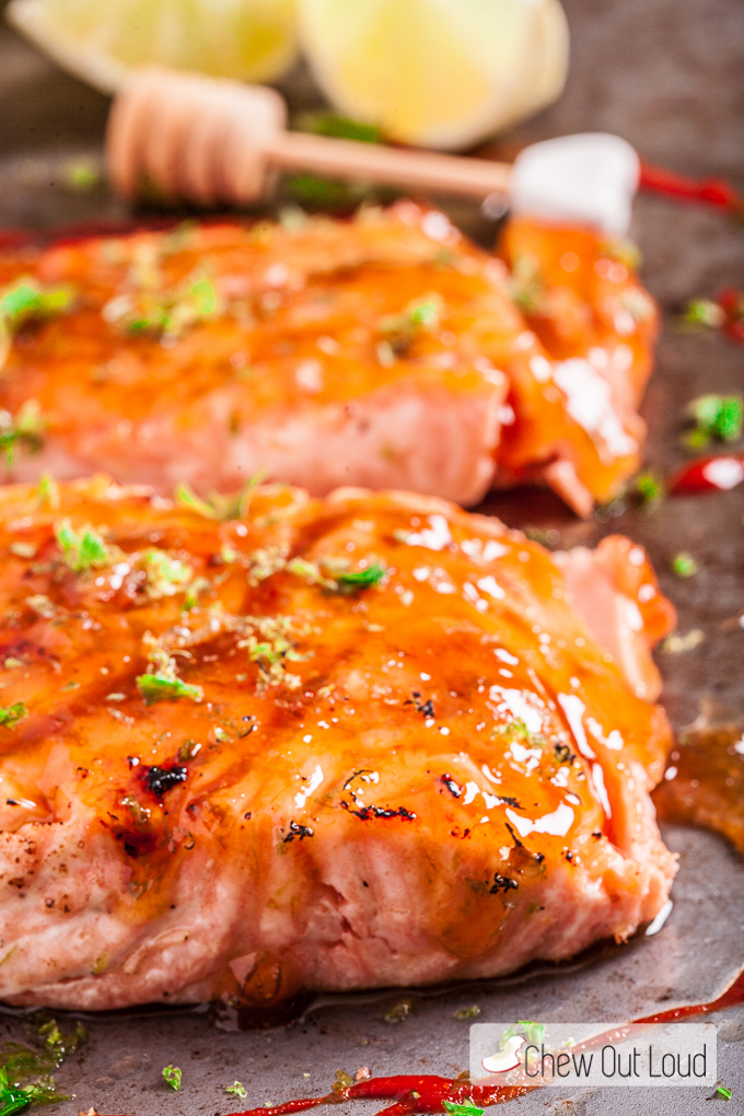 Honey lime glazed salmon chew out loud honey lime grilled salmon ccuart Gallery