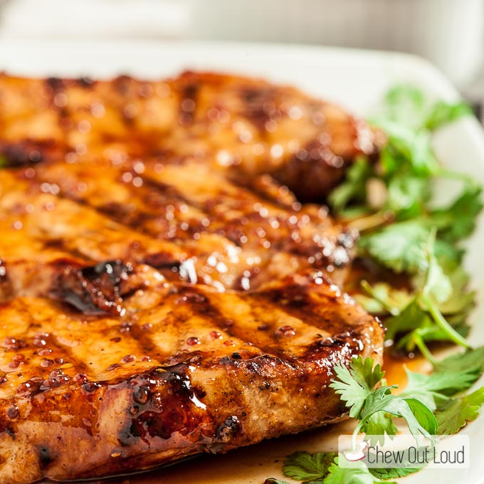Honey Mustard Grilled Pork Chops 4
