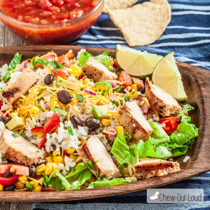 Chipotle Chicken Burrito Bowls Chew Out Loud
