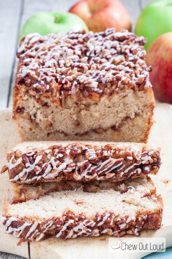 Apple fritter bread slices