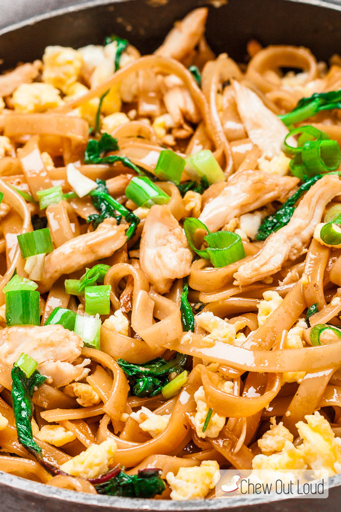 Thai Stir Fry Noodles Pad See Ew Chew Out Loud