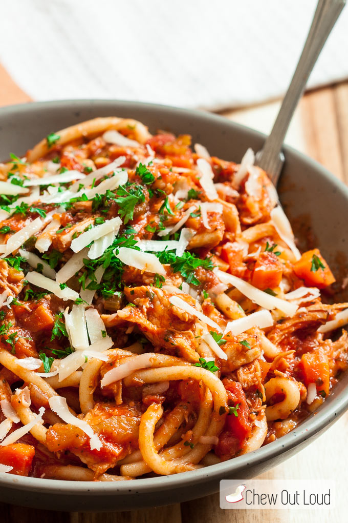 turkey bolognese chew out loud