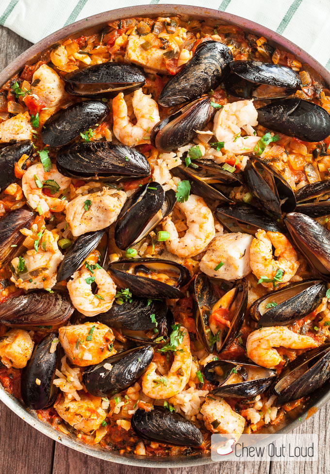 Easy Seafood Paella 1