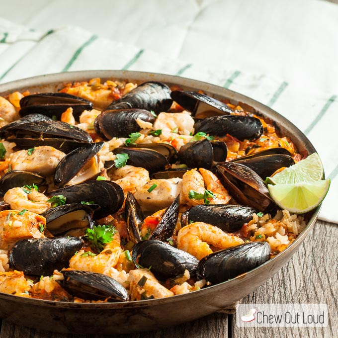 Easy Seafood Paella 3