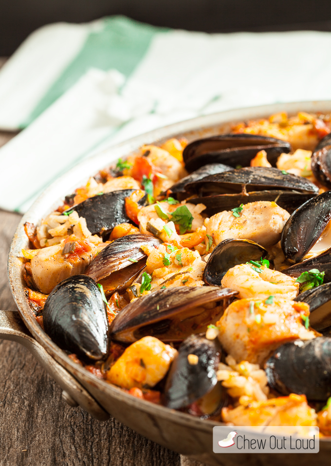 Easy seafood Paella 2