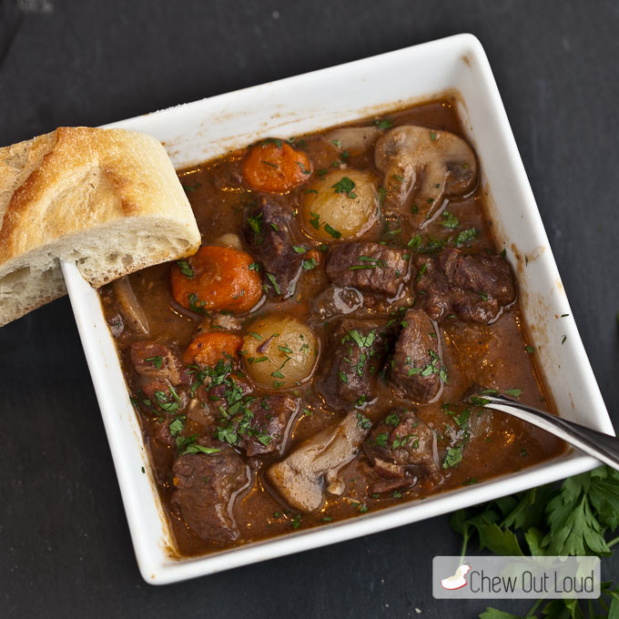 Beef Stew Ina Garten french beef stew (boeuf bourguignon) - chew out loud