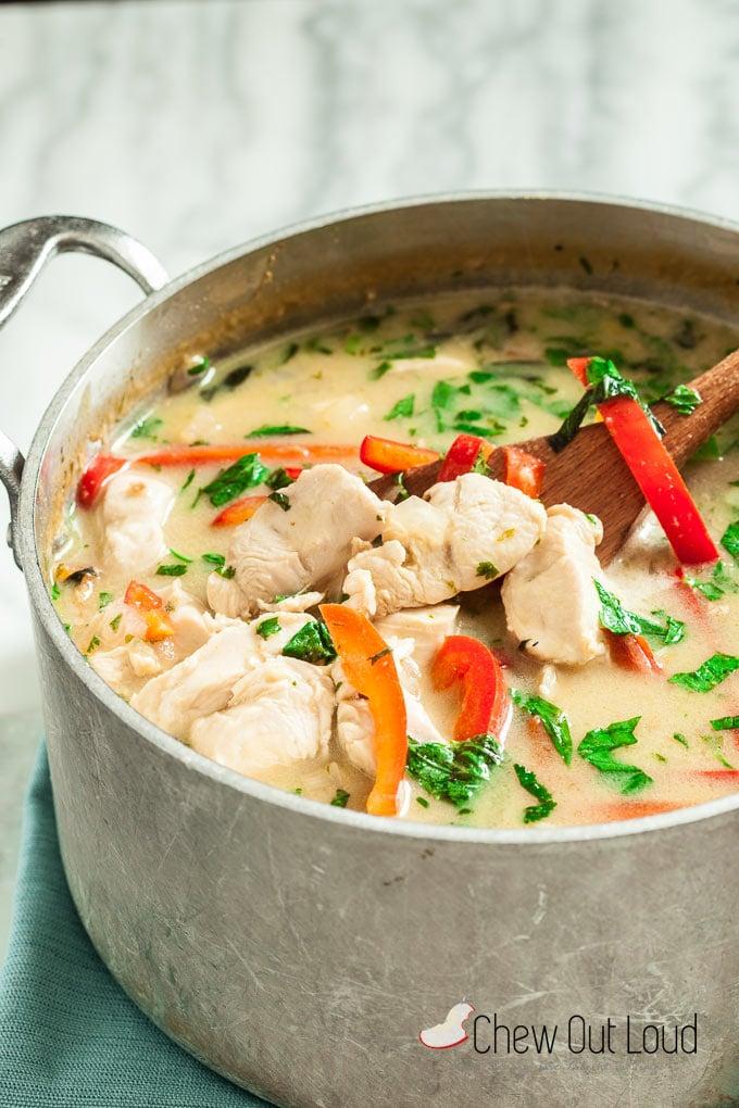 thai green curry chicken 2