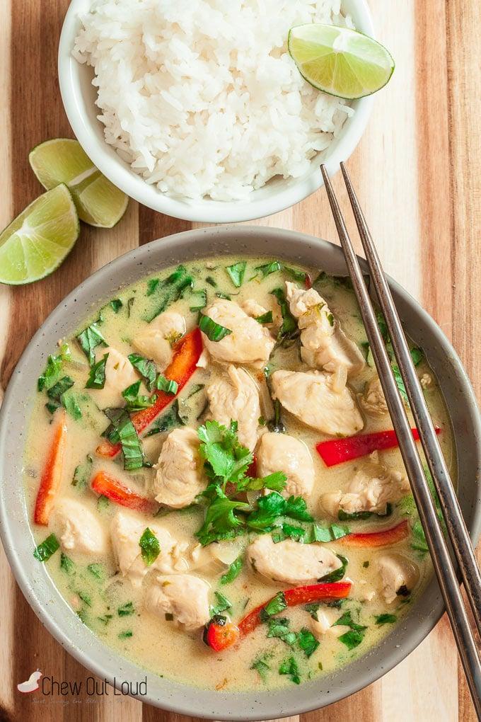 thai green curry chicken 4