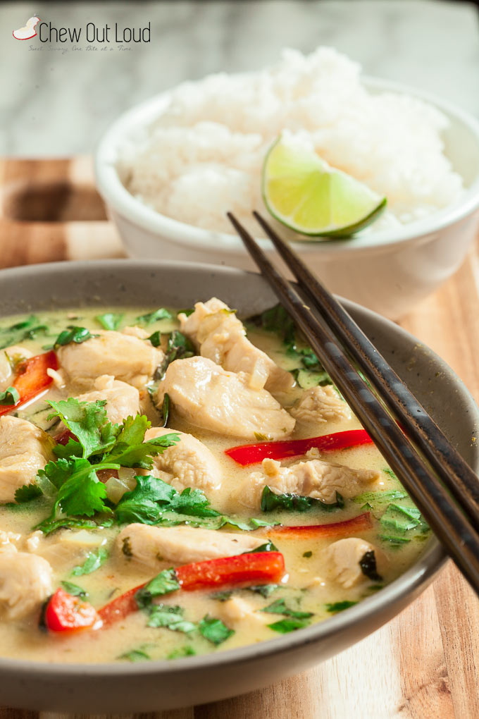 thai green curry chicken 5