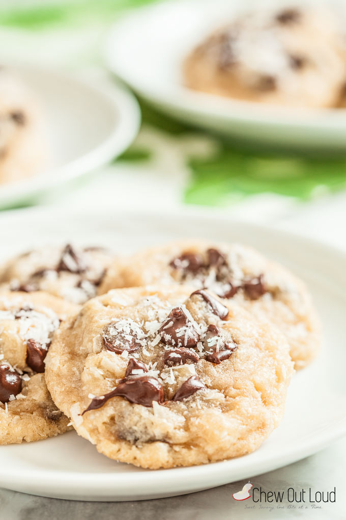 coconut chocolate chip cookies 3