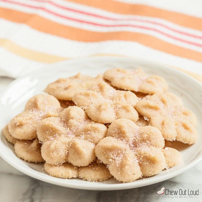 lemony butter spritz cookies 1