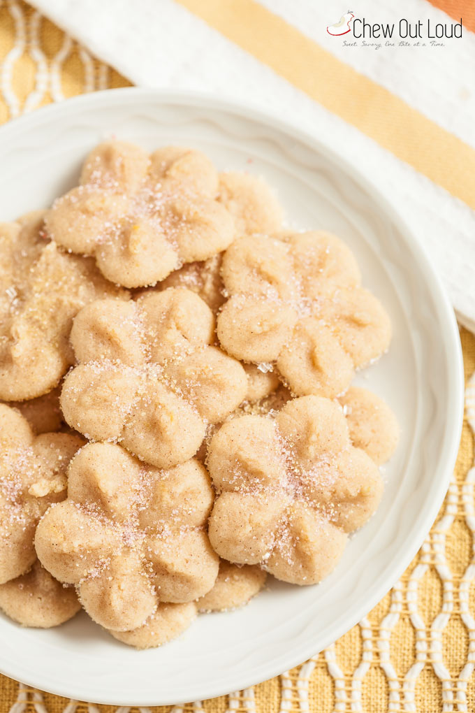 lemony butter spritz cookies 2