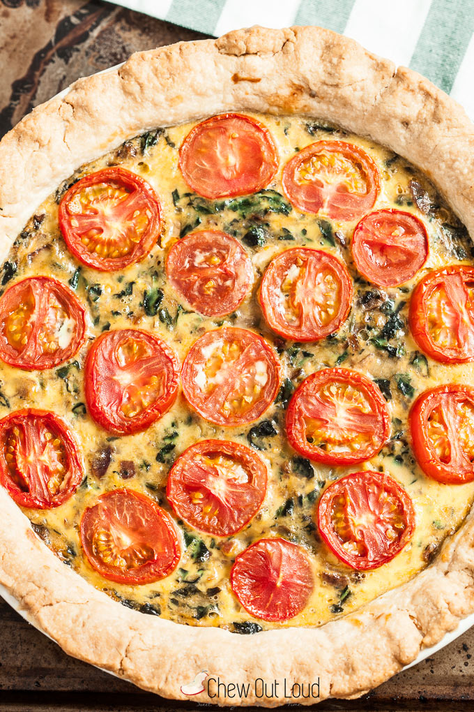 spinach tomato quiche 2