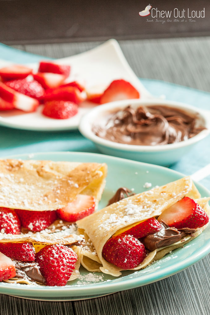 strawberry nutella crepes 1