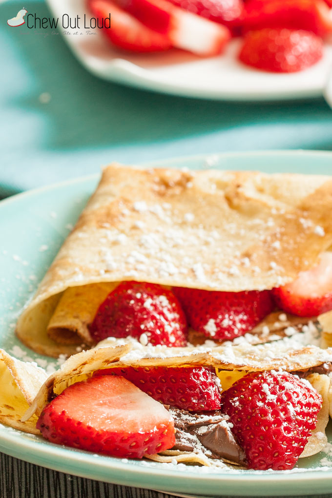 strawberry nutella crepes 2