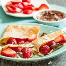 Sweet Crepes With Strawberries And Nutella Chew Out Loud