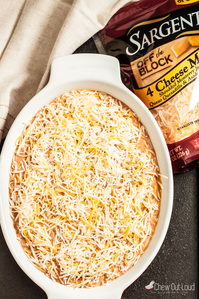 cheesy mexican bean dip 2