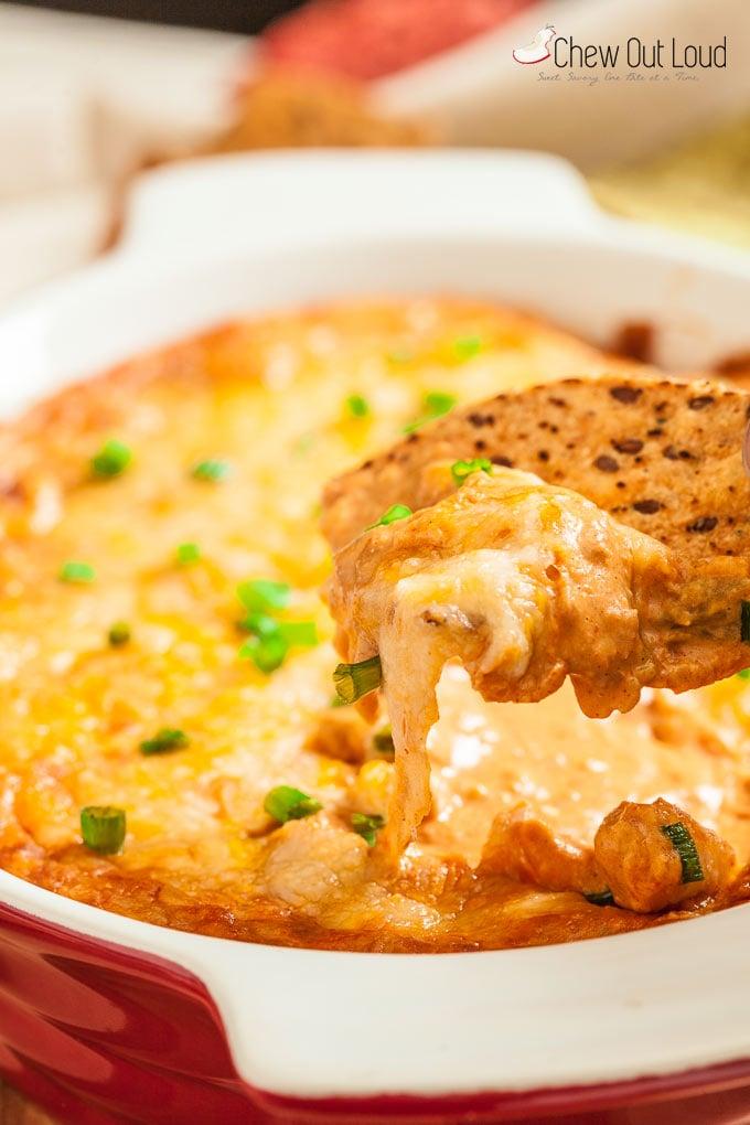cheesy mexican bean dip 6