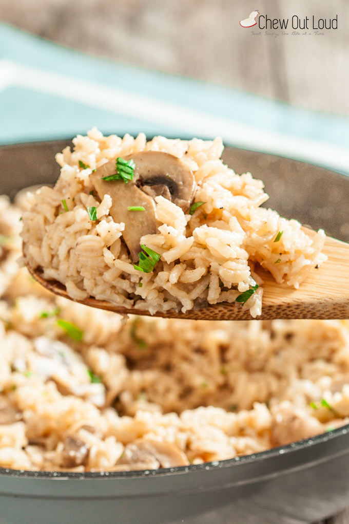 easy rice pilaf with mushrooms 4