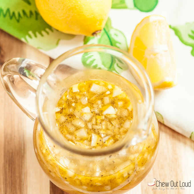 lemon honey vinaigrette