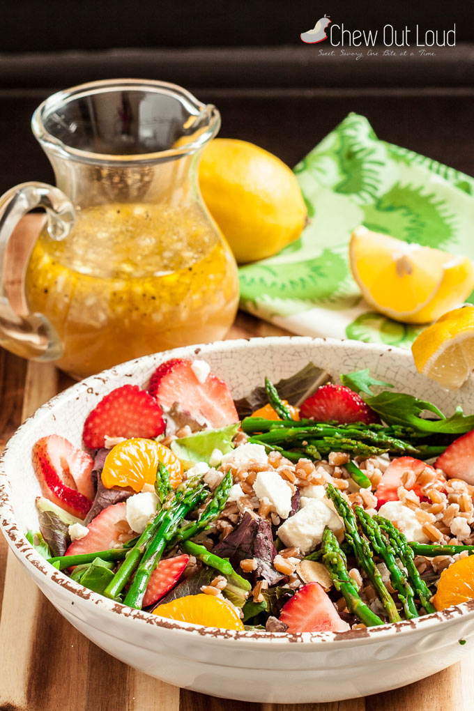 strawberry asparagus farro salad 4