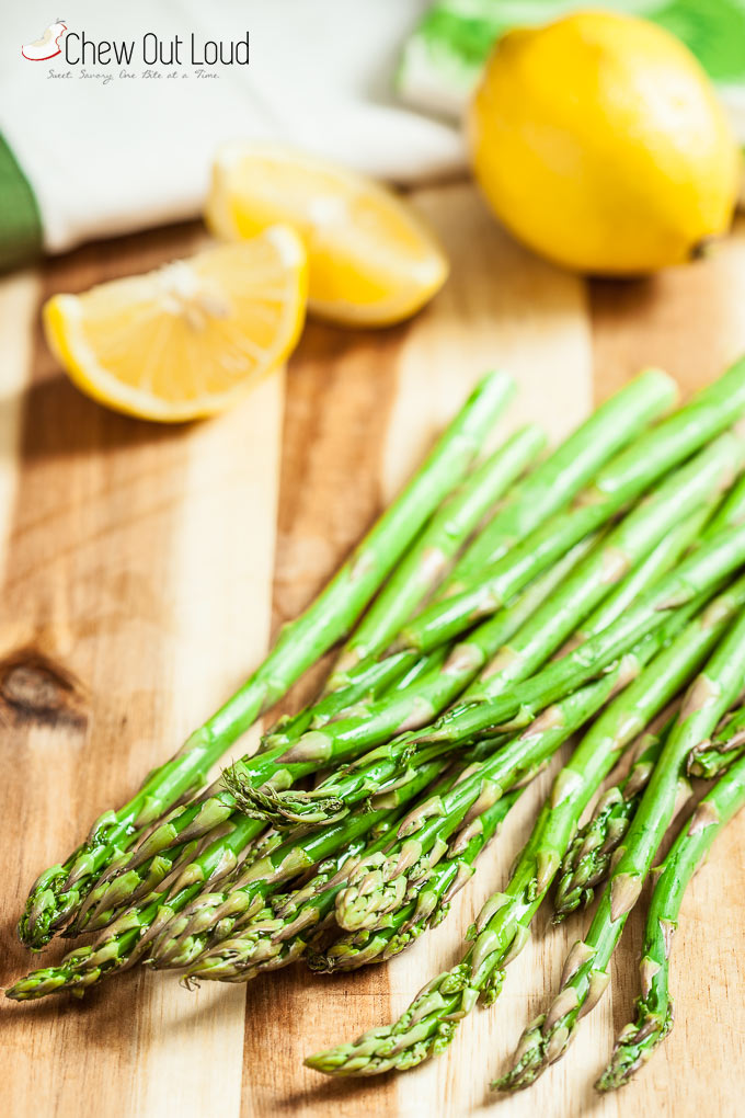 We nosh on fresh green asparagus all year round, but especially during ...