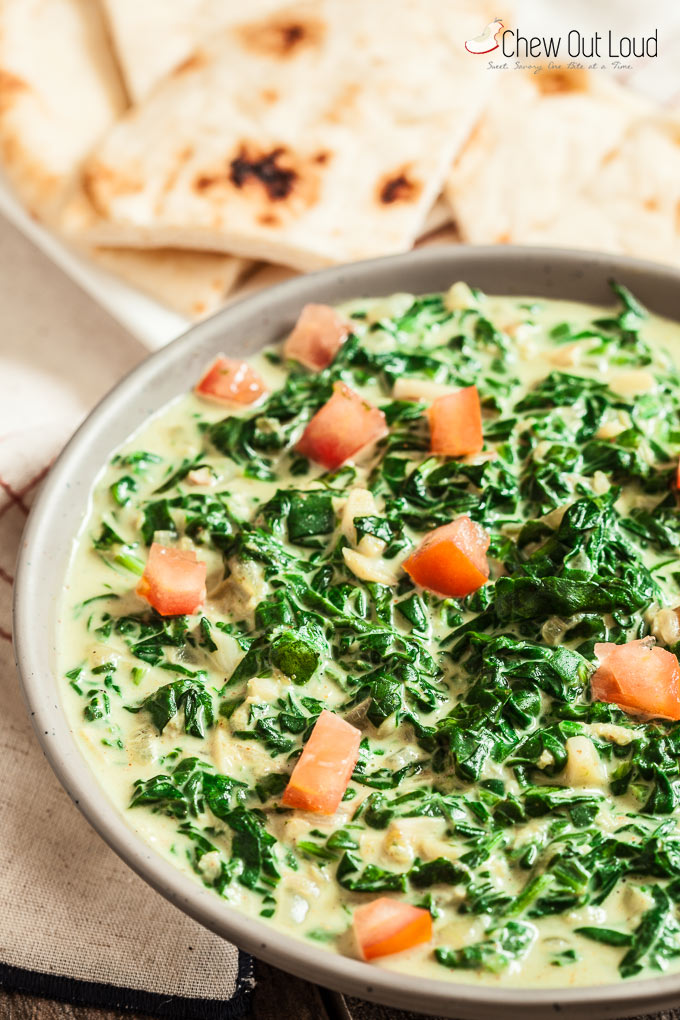 Easy Indian Creamed Spinach 1
