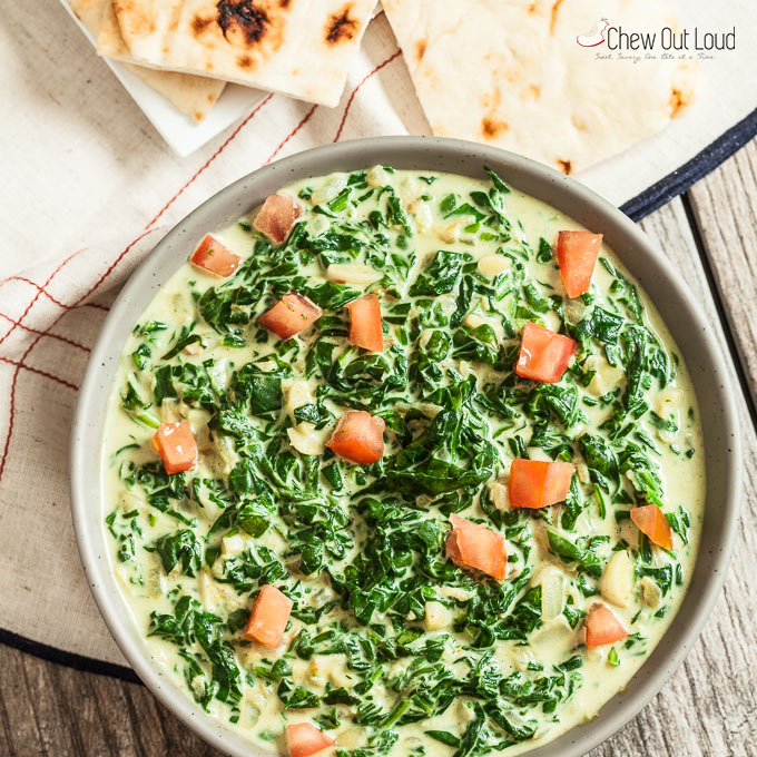 Indian Style Creamy Spinach 3