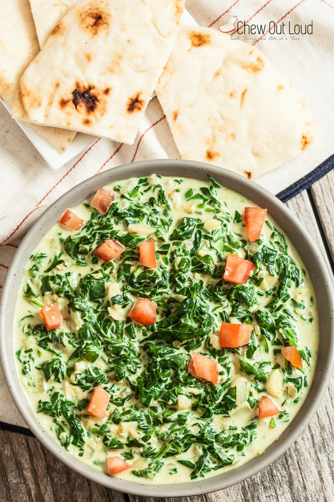 Indian Style Creamy Spinach