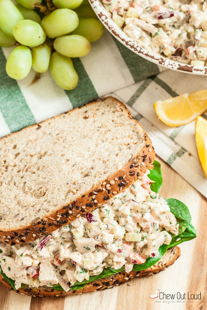 Lemon Chicken Salad Sandwiches 7