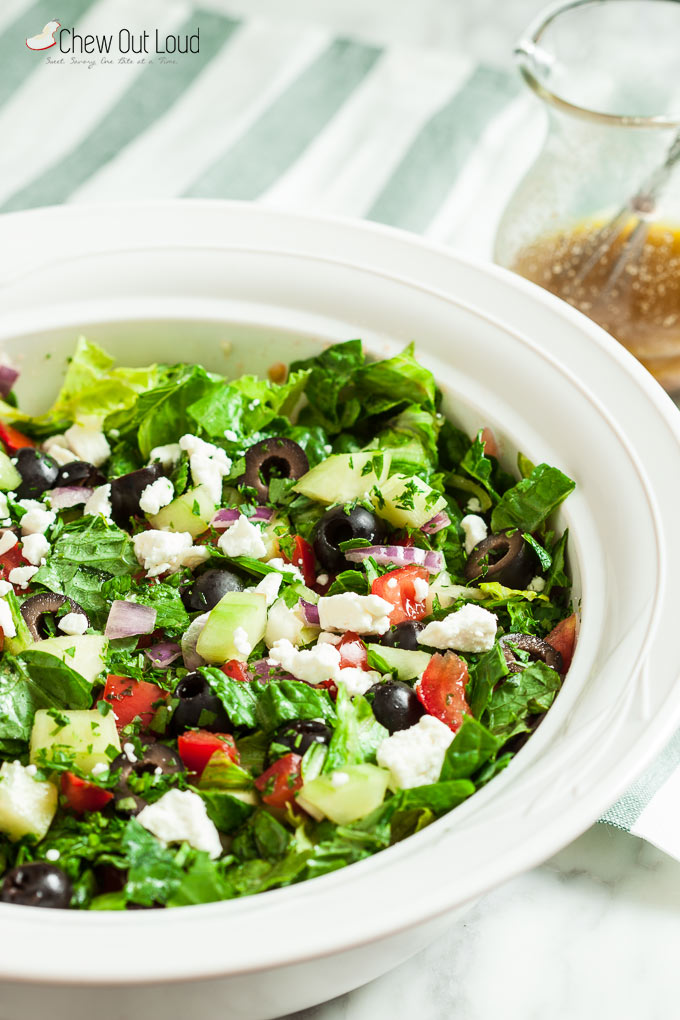 easy greek salad 1