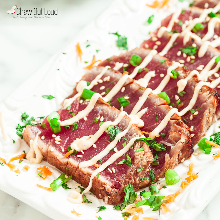 Marinated Seared Ahi Chew Out Loud