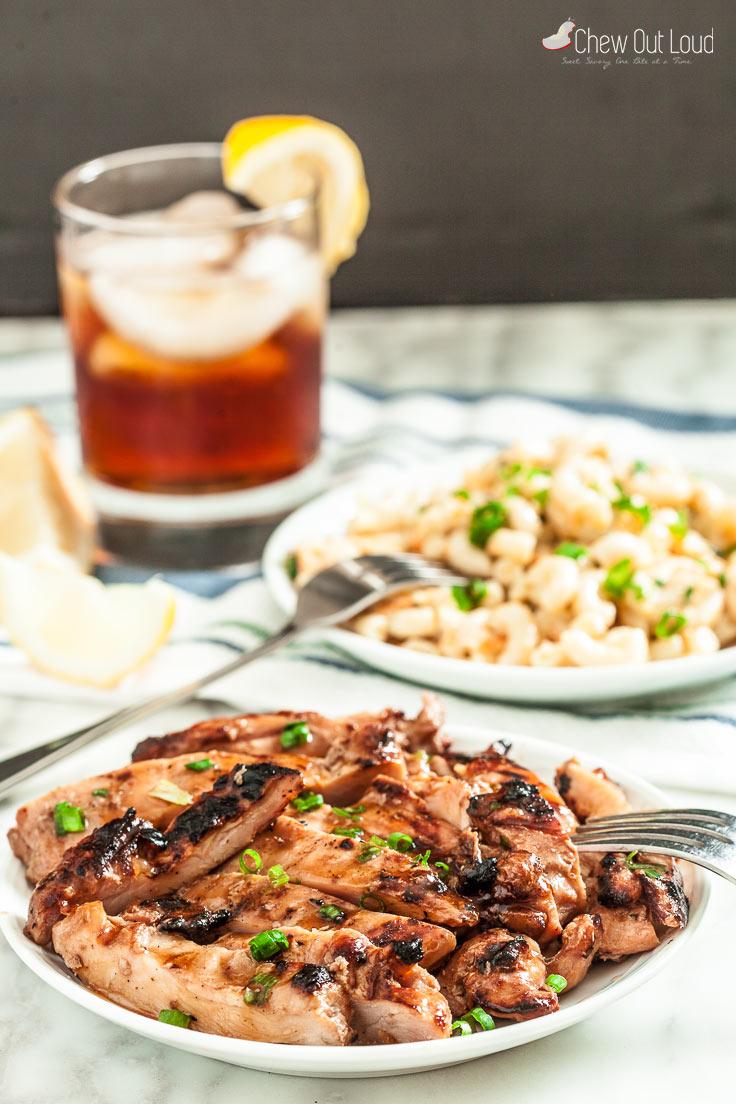 hawaiian BBQ grilled chicken